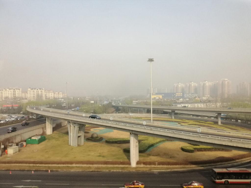 W drodze do centrum Pekinu