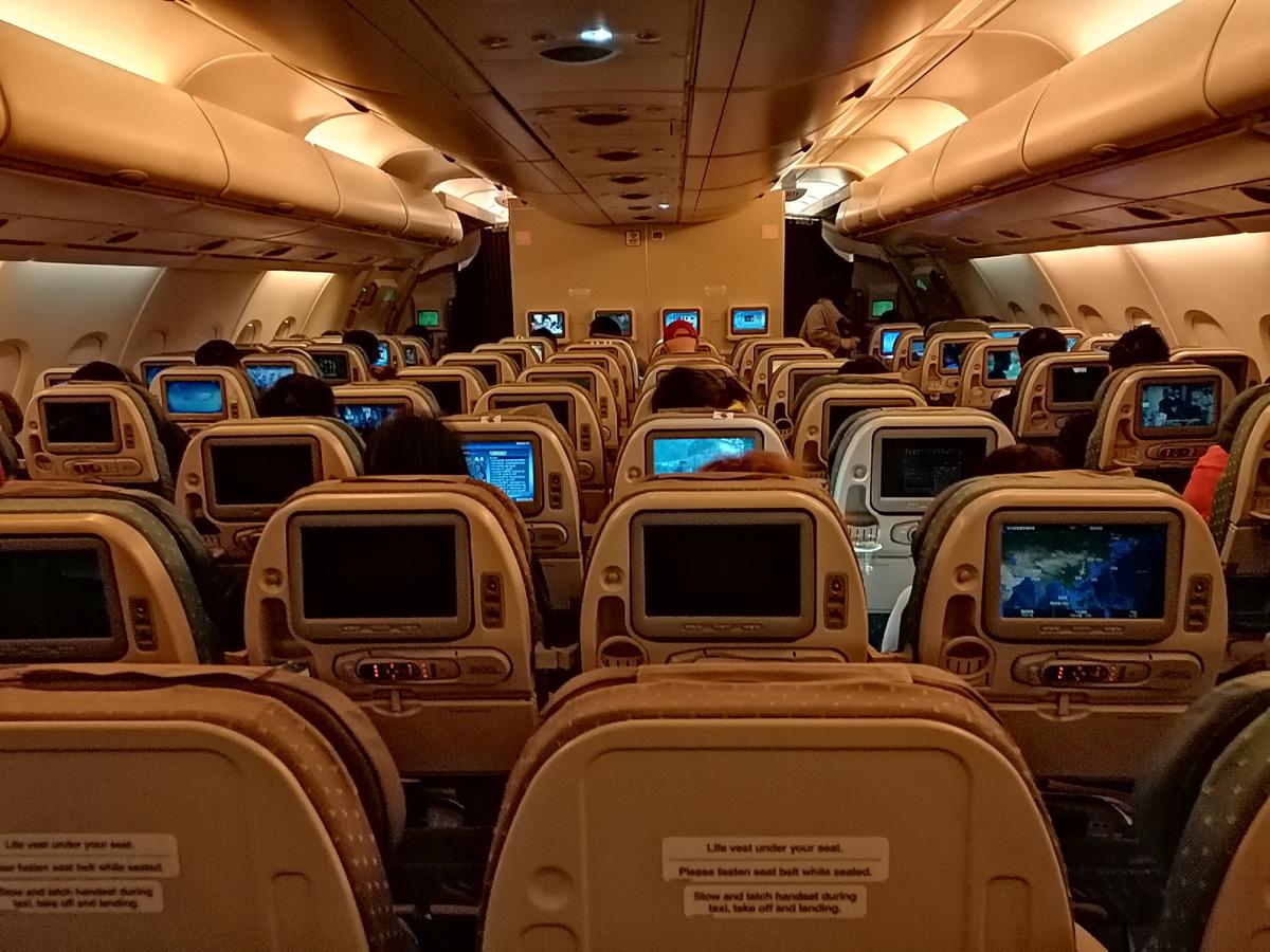 Airbus A380, górny pokład