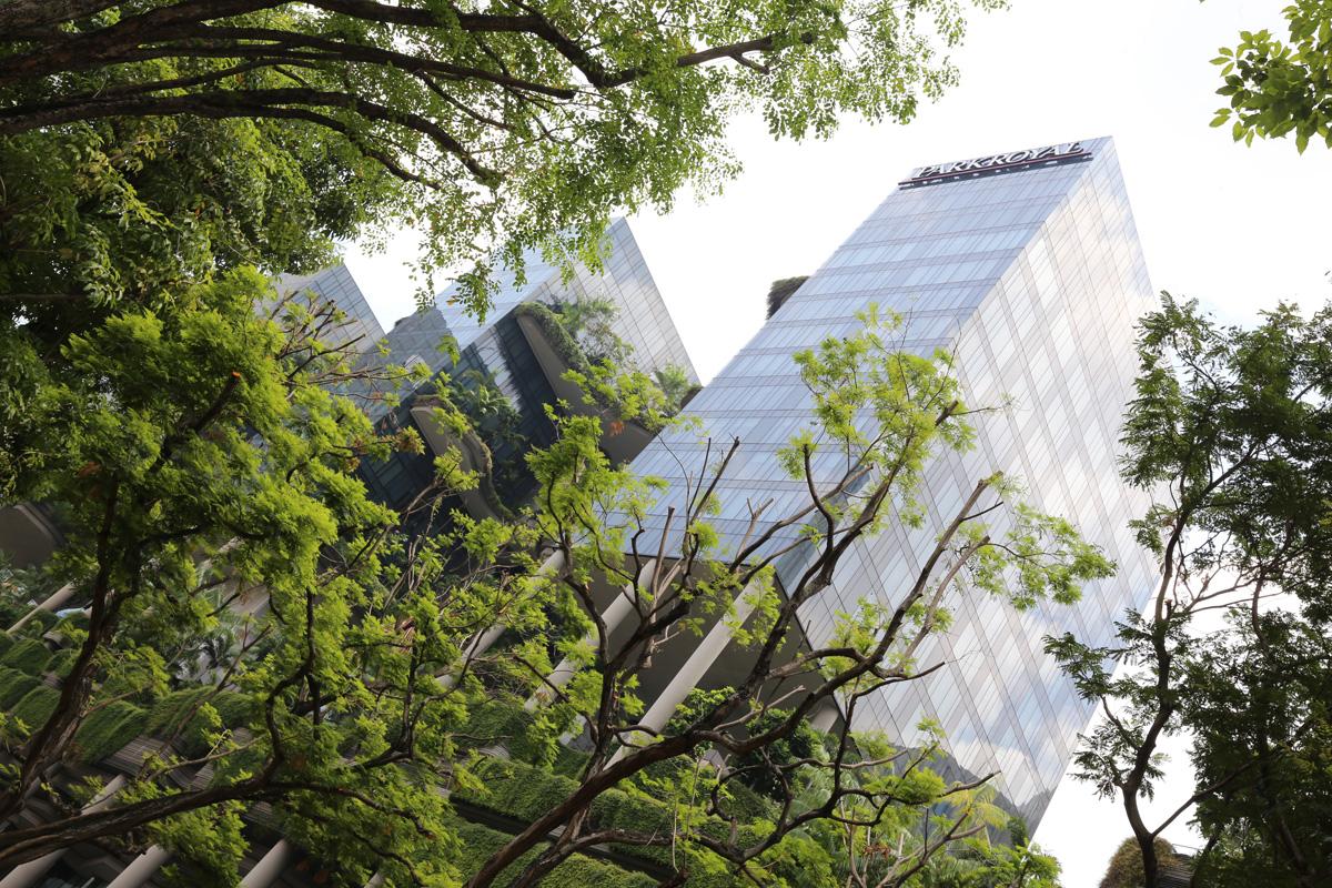 Wieżowce i rośliny w Singapurze