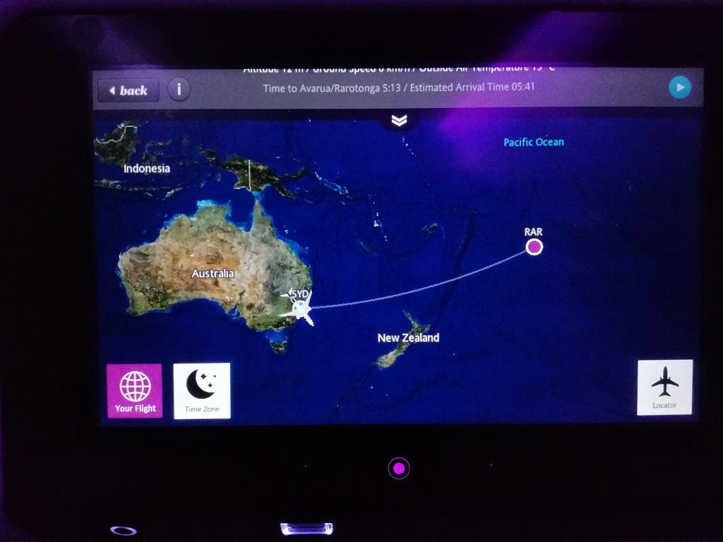 Lot Sydney - Rarotonga
